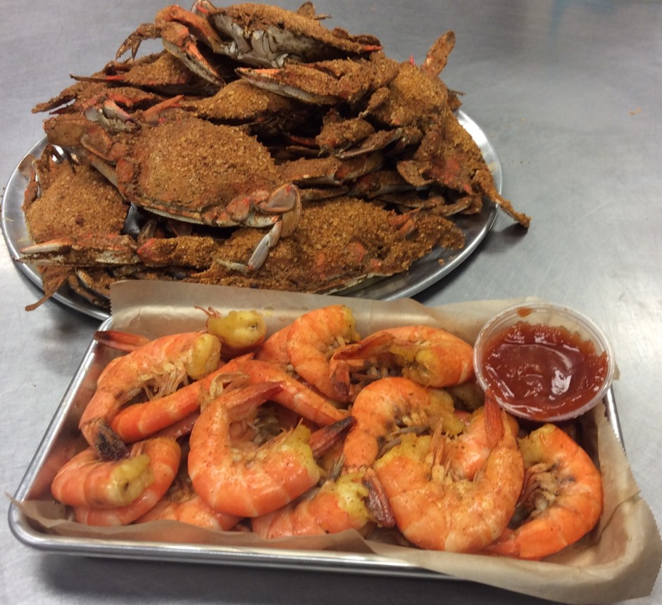 Enjoy Our All You Can Eat Crabs With Steamed Shrimp And A Piece Of Corn On The Cob Seasonal Or Hush Puppies Per Person